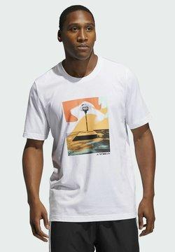 adidas Performance - SLEPT ON GRAPHIC T-SHIRT - T-shirt print - white