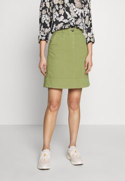 Marc O'Polo - SKIRT CHINO STYLE SHORT LENGTH - A-Linien-Rock - seaweed green