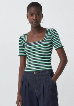 Salsa - FRANCE BODYCON - T-Shirt print - green / blue / white