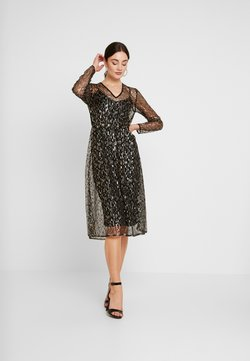 YAS - YASCHLOE DRESS - Cocktail dress / Party dress - black/gold