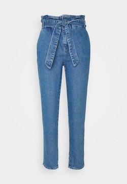 ONLY - ONLJANPAPERBAG BELT - Jeansy Slim Fit - dark blue denim