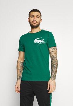 Lacoste Sport - LOGO - T-shirt imprimé - bottle green/white