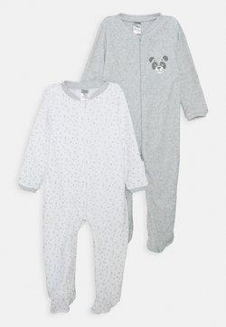 Jacky Baby - UNISEX 2 PACK - Pyjama - grey/white