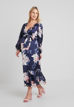 True Violet Maternity - WRAP LONG SLEEVES - Maxi-jurk - blue