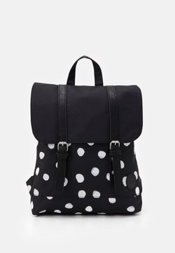 Enter - CITY BACKPACK MINI FRONT STRAPS - Reppu - black/white