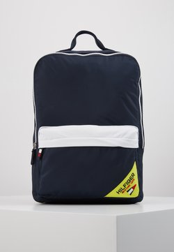 Tommy Hilfiger - KIDS SQUARE BACKPACK SAILING - Reppu - blue