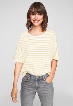 s.Oliver - T-Shirt print - yellow stripes