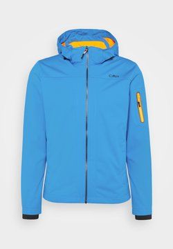 CMP - MAN ZIP HOOD JACKET - Softshelljacke - regata