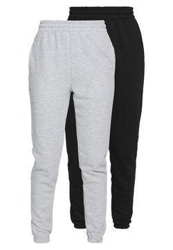 Missguided Tall - BASIC 2 PACK - Jogginghose - black/grey marl