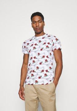 Brave Soul - CHAIN - Print T-shirt - optic white