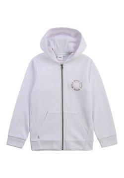 BOSS Kidswear - Huvtröja med dragkedja - blanc
