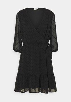 JDY - JDYEMILIA WRAP DRESS - Freizeitkleid - black
