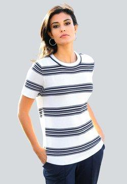 Alba Moda - T-Shirt print - off-white/marineblau