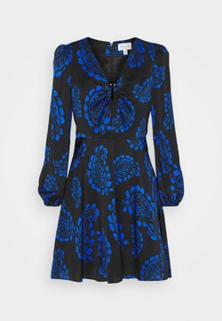 Milly - TOSSED PAISLEY DRESS - Cocktailkleid/festliches Kleid - black/azure