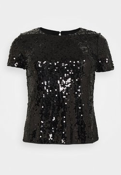 CAPSULE by Simply Be - VALUE SEQUIN  - T-Shirt print - black