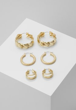 Pieces - PCMAILA HOOP EARRINGS 3 PACK - Earrings - gold-coloured