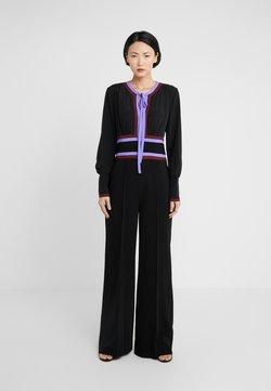 Diane von Furstenberg - ELKIE - Jumpsuit - black/jacaranda/merlot