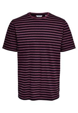 Only & Sons - ONSJAMIE LIFE SS STRIPE REG TEE NOO - T-Shirt print - zinfandel