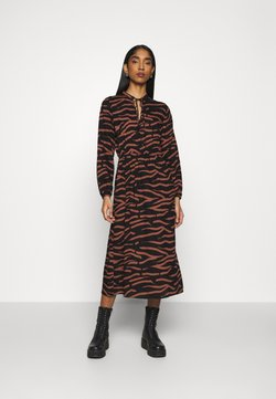 ONLY - ONLGAGA MIDI DRESS - Maxiklänning - black/rust