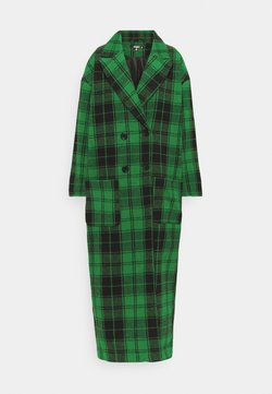 Missguided Tall - CHECKED OVERSIZED FORMAL COAT - Abrigo - green