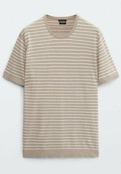 Massimo Dutti - T-Shirt print - beige