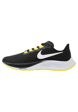 Nike Performance - AIR ZOOM PEGASUS 37 - Neutrala löparskor - black/white/opti yellow