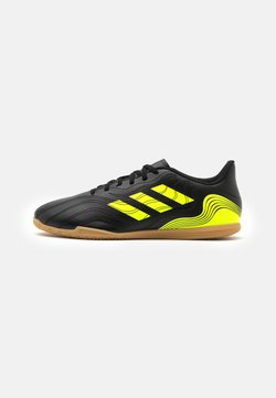 adidas Performance - COPA SENSE.4 IN - Indoor football boots - core black/solar yellow