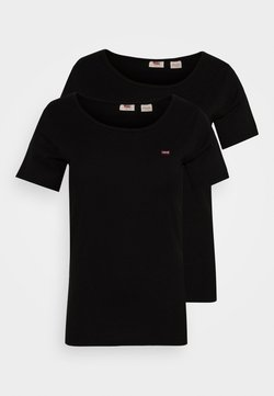 Levi's® Plus - TEE 2 PACK - Printtipaita - black