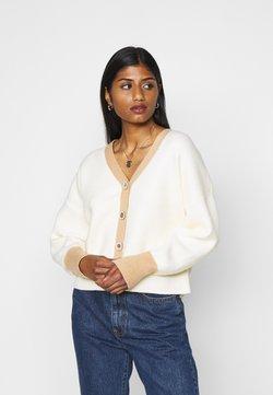 Fashion Union Petite - CONTRASSY - Vest - cream