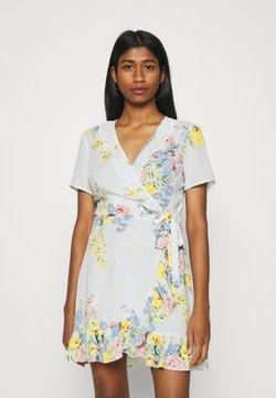 ONLY - ONLALMA LIFE WRAP DRESS - Kjole - cloud dancer/summer botanic