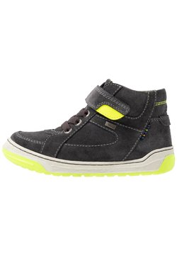 Lurchi - BARNEY-TEX - Sneakers hoog - charcoal/neon yellow