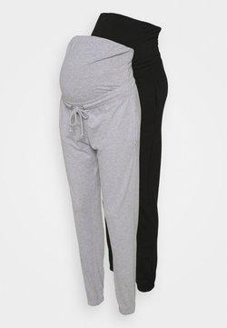 Missguided Maternity - MATERNITY BASIC JOGGER 2 PACK - Jogginghose - black/grey marl