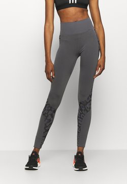 adidas by Stella McCartney - TRUEPUR  - Legginsy - granite/black