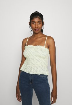 American Eagle - CINCH FRONT SMOCK TUBE - Top - yellow