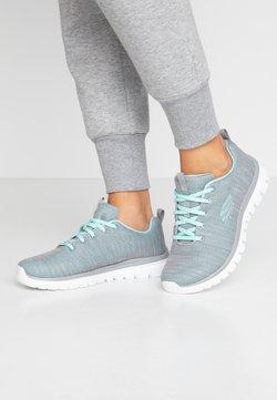 Skechers Wide Fit - WIDE FIT GRACEFUL - Sneaker low - gray/mint