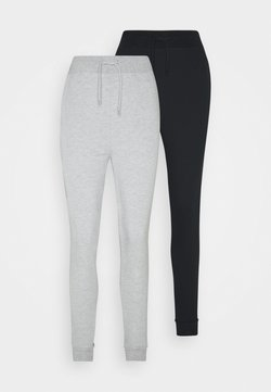 Even&Odd Tall - 2 PACK - Jogginghose - black/mottled grey