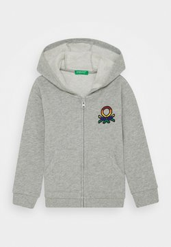 Benetton - JACKET HOOD - Hoodie met rits - grey