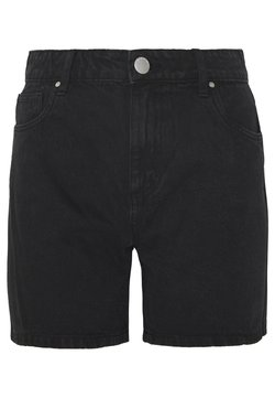 Cotton On - HIGH RISE MILEY  - Jeansshort - stonewash black