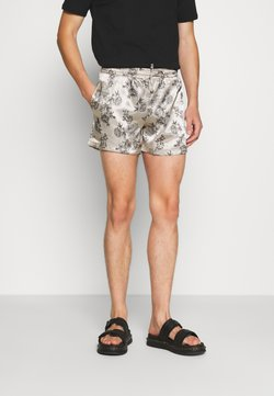 Urban Threads - PRINTED FLORAL  - Shorts - black/ecru
