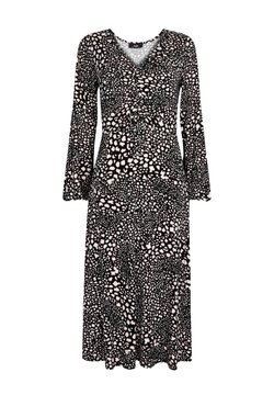 Wallis - MONOCHROME ANIMAL PRINT - Freizeitkleid - black
