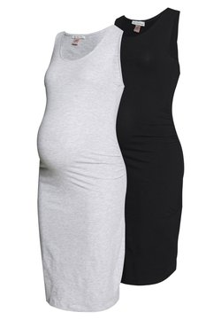 Anna Field MAMA - 2 PACK - Etuikleid - light grey/black