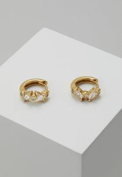 Orelia - NAVETTE HUGGIE HOOPS - Earrings - pale gold-coloured