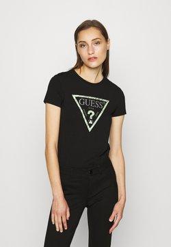 Guess - Print T-shirt - jet black