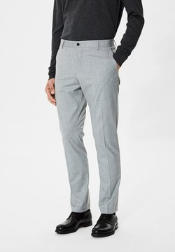Selected Homme - Anzughose - light grey melange