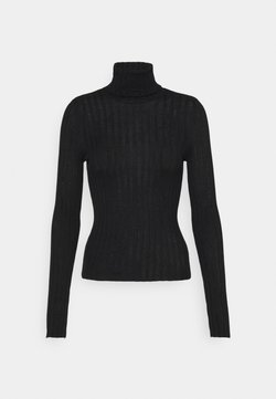 American Eagle - SOLID BODYCON TURTLENECK - Maglione - true black