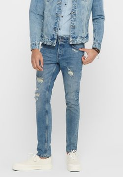 Only & Sons - SLIM FIT JEANS ONSLOOM LIGHT BLUE - Slim fit jeans - blue denim