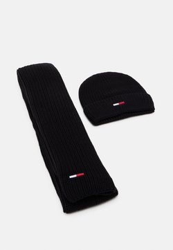 Tommy Jeans - BASIC SCARF BEANIE SET   - Sciarpa - black