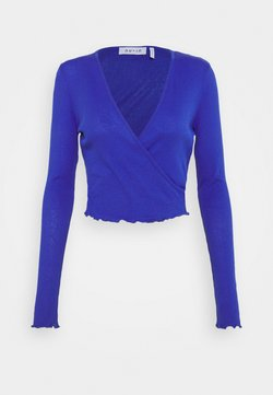 NU-IN - FRONT WRAP LONG SLEEVE - Maglietta a manica lunga - blue