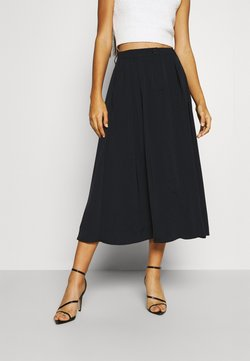 NA-KD - PLEATED MIDI SKIRT - Falda acampanada - black