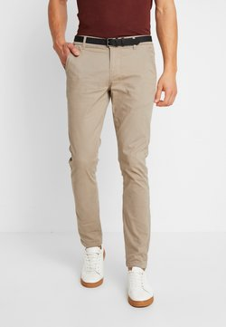 Lindbergh - CLASSIC WITH BELT - Chinos - sand